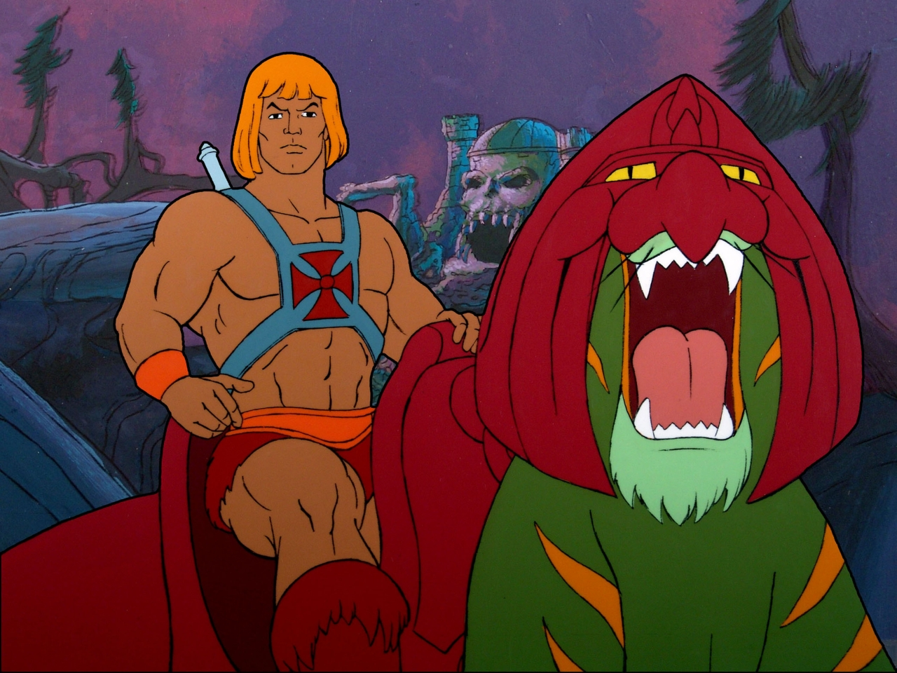 It's just a picture of He-Man on Battle Cat.